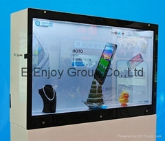 35inch large advertising display showcase video player clear touch screen lcd