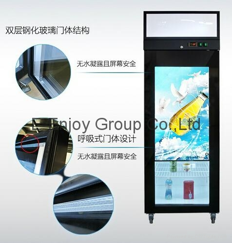 32inch to 65inch TFT Type Transparent refrigerator door as promoting product adv 3