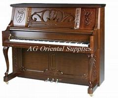 红木哑光125cm手工制造竖式钢琴