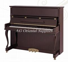 紅木啞光125cm手工製造豎式鋼琴