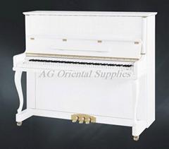 白色亮光123cm手工制造竖式钢琴