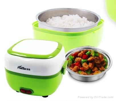 2014 stainless steel Electric lunch box and rice cooker 1