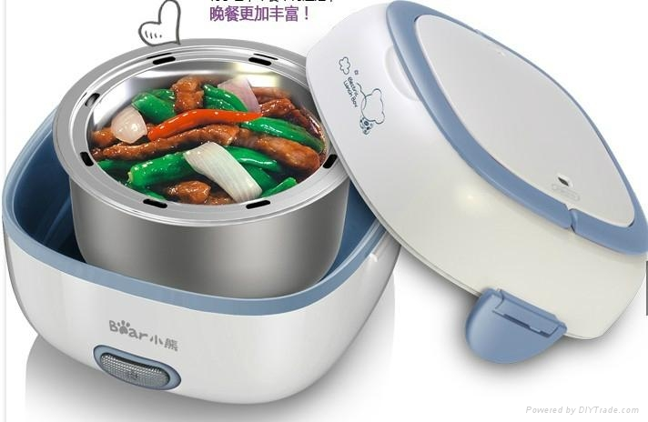2014 stainless steel Electric lunch box and rice cooker 4
