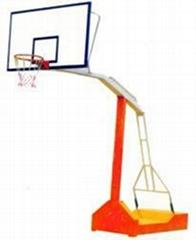 海南凹箱式防液压篮球架