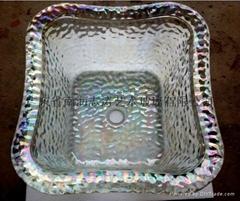 按摩椅五彩玻璃盆