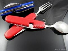 多功能折叠餐具