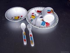 melamine baby dinner set