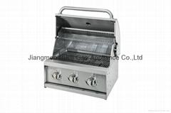 3头嵌入式烧烤炉(BBQ)