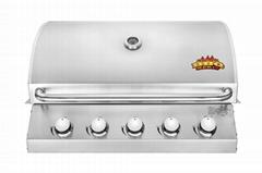 5头嵌入式户外烧烤炉(BBQ)