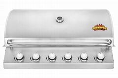 6头嵌入式户外烧烤炉(BBQ)