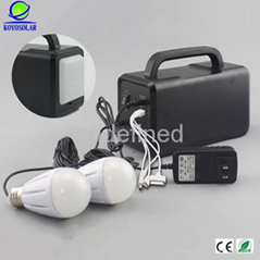 high quality portable solar lighting system with USB output and 12V DC output