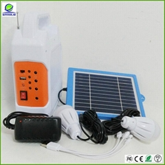 high quality portable solar power system with fm radio