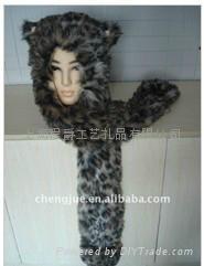 毛绒动物帽子 5