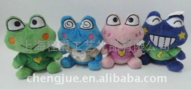 毛绒青蛙填充玩具 1