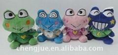 毛絨青蛙填充玩具