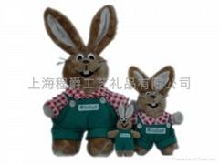 毛绒小兔子玩具