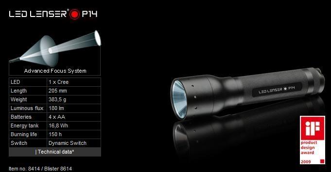 德國LED LENSR 戶外強光調焦手電筒 1