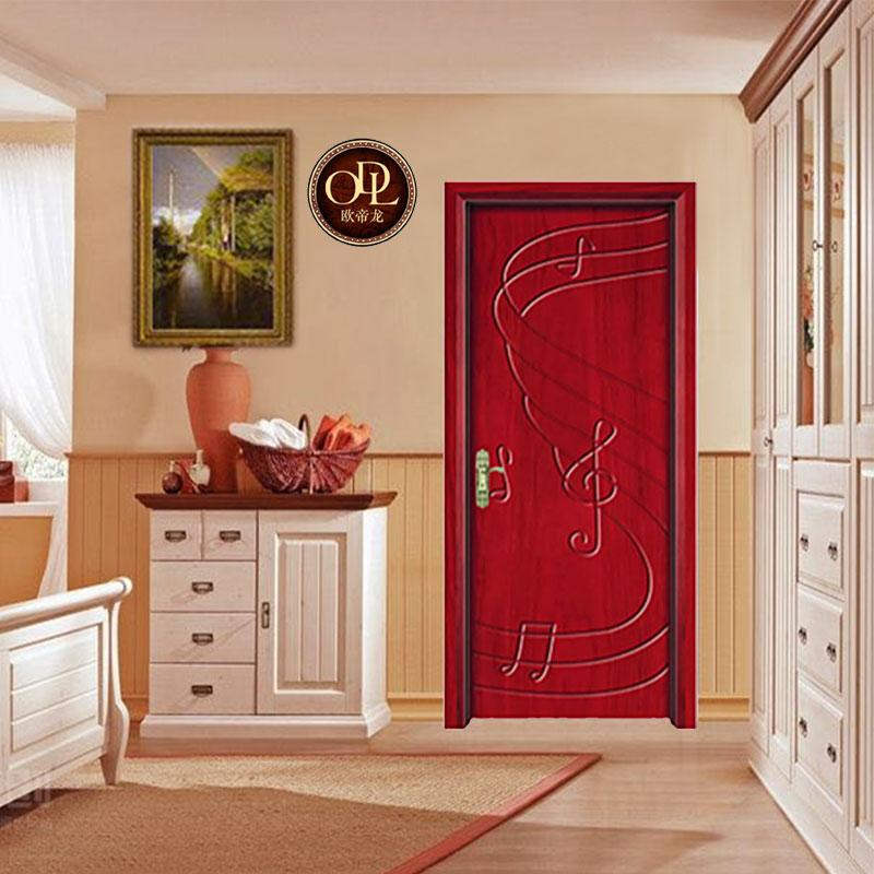佛山廠家直銷實木橡木門房間油漆室內家裝原木門 1