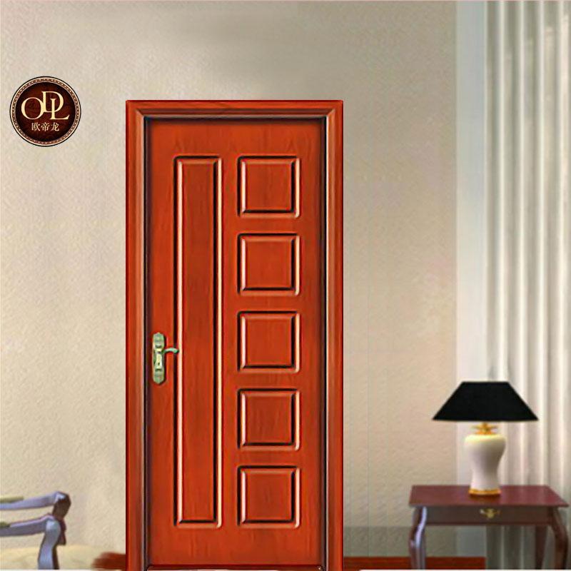 佛山廠家直銷實木橡木門房間油漆室內家裝原木門 5