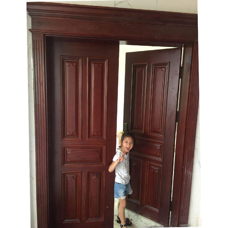 沙比利原木門雙開大門 2