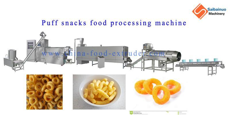 Delicious Corn Cheese Puff Snacks Food Making machine 5