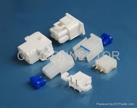 供应6.35mm线对板连接器 C6351连接器 防水连接器搭配防水塞 长江连接器 3