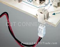 连接器厂家直销 1.5mm反向穿板式SMT连接器 线对板智能连接器 2