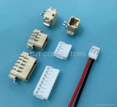 长江连接器厂家直销1.5毫米反向穿板式SMT连接器