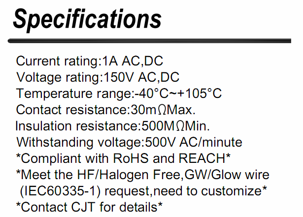 1.25mm(DF14) 广濑连接器同等品 12507HS05L 12507HS06L 长江连接器A1255  2