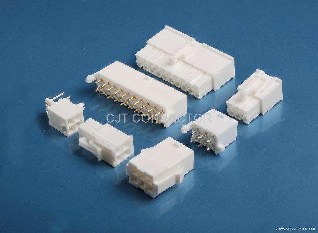 电子元器件C4140 (TE1.0,4.14mm )公母对插线对板连接器 1