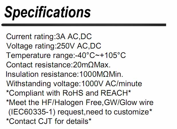2.5mm(JS,RC)连接器同等品 JS011-06F JS011-07F 长江连接器A2506  2