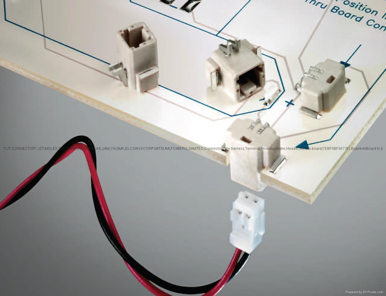 CJT conn LED Inverted SMT Thru Board Connector