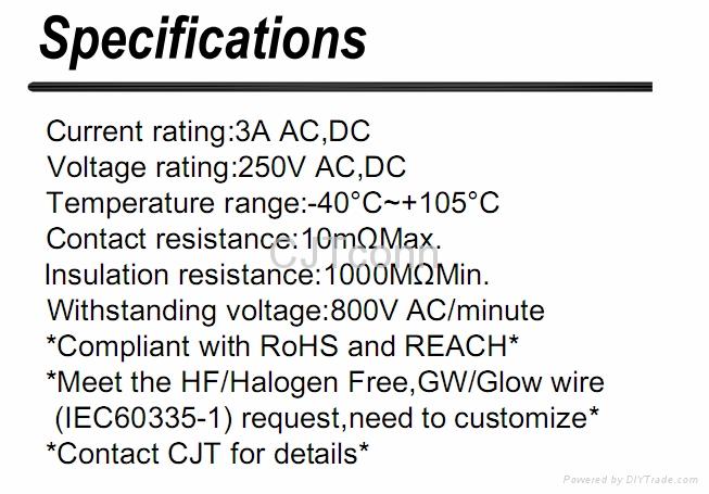 连接器 CJT2.5mm同等JST EH 同等品,A2502  EH2.0家电智能连接器 3