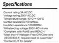 连接器 2.5mm线对板工业快速连接器A2503  CJT供应Dupont 2.5 同等品 3