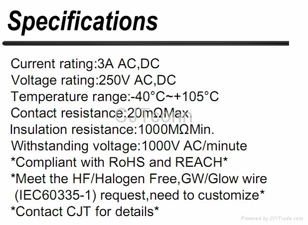 连接器 线对板电子 2.50mm连接器供应JAM JS 同等品CJT A2506  2