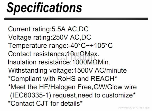 连接器 3.5mm风扇家电电子连接器 电子元器件 CJT A3502  2
