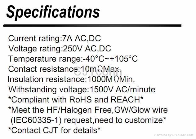 连接器 3.96mm 快速连接端子端子线640251-3 0039000344CJT长江A3961 4