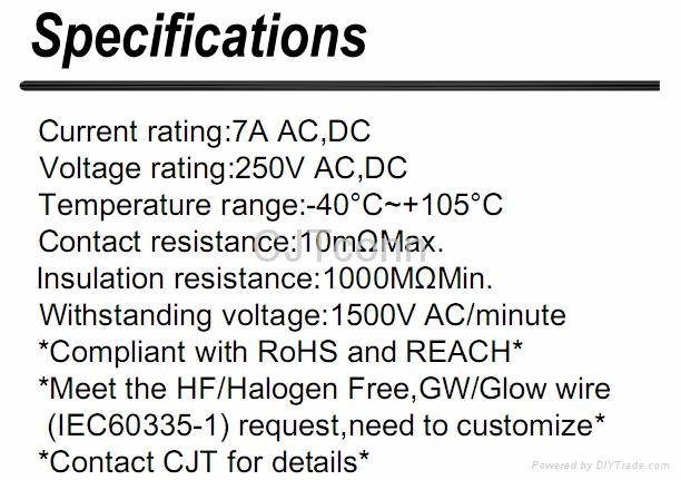 连接器 压接端子5.0间距配套胶壳 传感器 CJT A5001 2