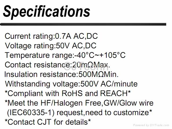 电子元器件1.5mm端子线束B1502板对板连接器 CJT长江连接器 3