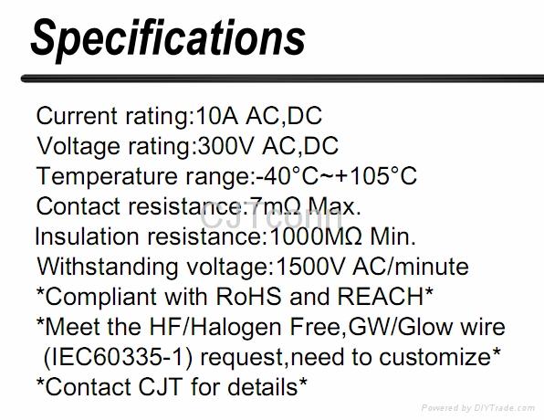 连接器 C1301线对板 CJT1.3mm 供应JST EL 同等品 3