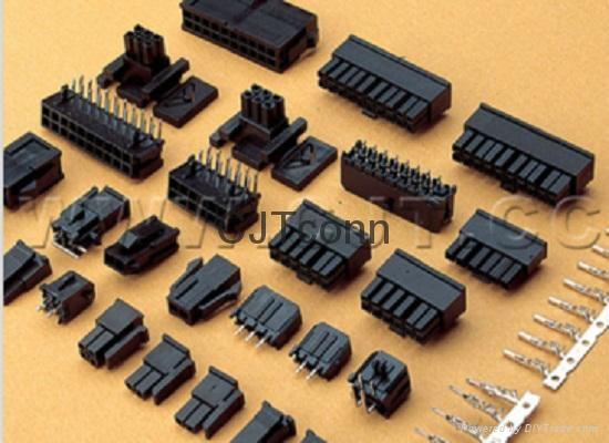 连接器 3.0mm胶壳连接器 43645-0200 带定位柱针座SMT贴片 2