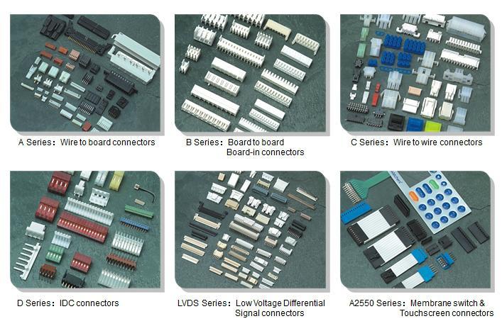 电子元器件6.35mm 防水线对线连接器制造商公母胶壳对接  7