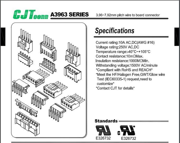 連接器 直銷同等品連接器A3963 3.96mmVH系列型號供應 VHR-2N    VHR-2N-BK 4