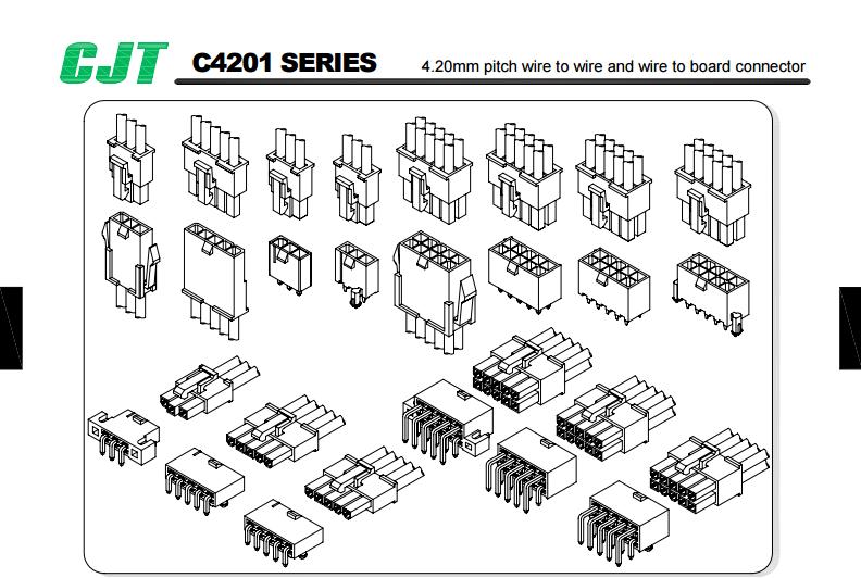 电子元器件4.20mm间距线板连接器CJTconn电子连接器 4