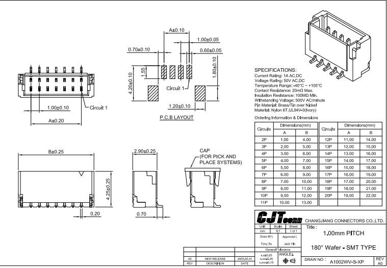 连接器供应1.0mm板段连接器BM08B-SRSS-TBT 88244-4000 88244-5000 2