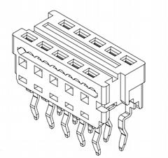 MOLEX 連接器同等品1.27mm 紅色IDC連接器903