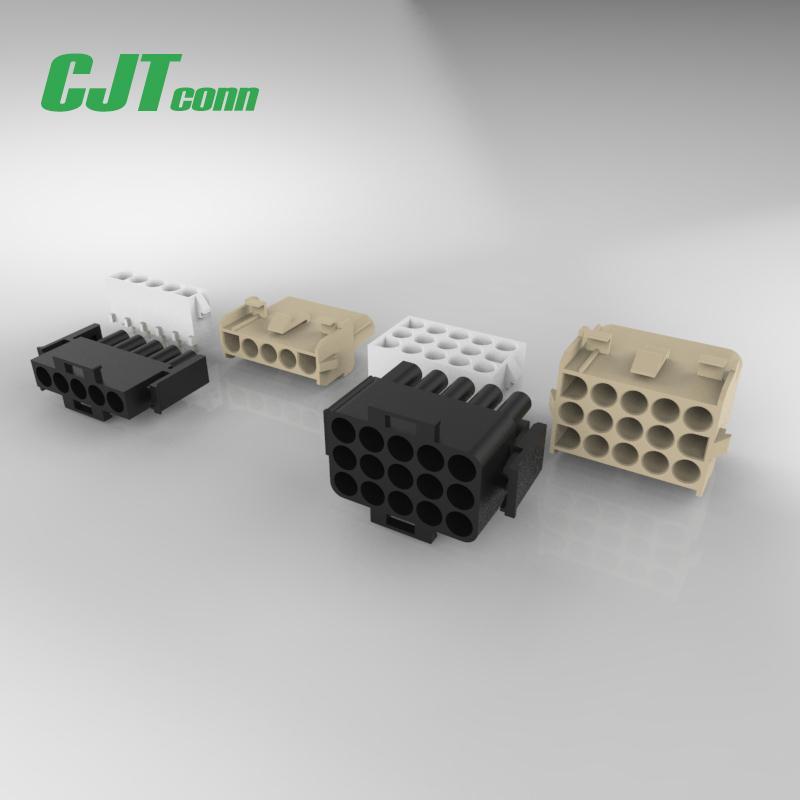 集成电路连接器 线对线连接器 6.35mm间距镀金胶壳端子 1