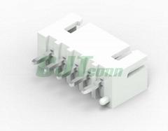 长江连接器厂家直销XH2.54mm连接器  B6B-XH-TV4-E B4B-XH-AM-R 2.54mm弯针红色