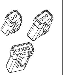 2.0mm 汽车连接器 02T-JWPF-VSLE-S / 02R-JWPF-VSLE-S 防水连接器 2