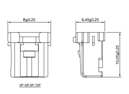连接器2.0mm C2003 线对线连接器  PNIRR-02V PNIRP-02V-S 3